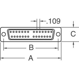 R//A TH RCPT 174-E15-213R461 D-SUB Connector NORCOMP 15POS